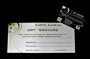 Carte cadeau atelier de gravure personnalisee