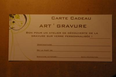 Cheque cadeau art gravure