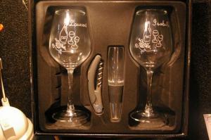Duo de verres a vin presente dans leur coffret pour un cadeau unique et original