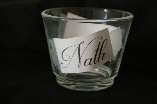Préparation du verre pour la gravure avec le gabarit