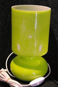 Lampe verte gravee pour un cadeau de noel