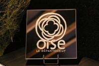 Miroir grave et personnalise pour l exposition de l hotel du departement en 2013