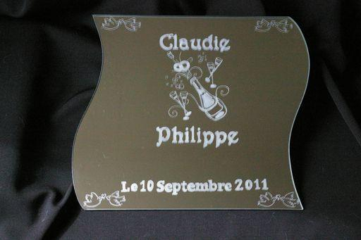 Gravure verre personnalis oise haut de france logo artisan for Gravure sur miroir