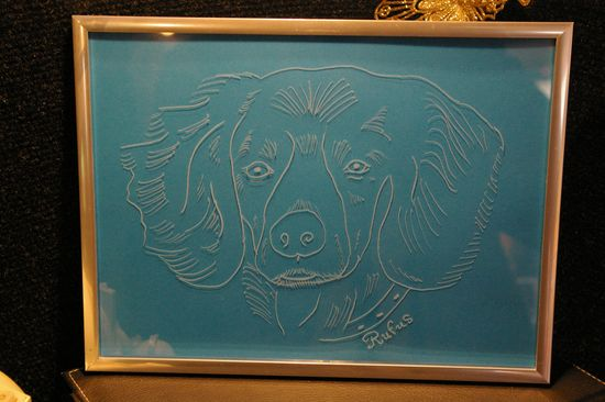 Portrait d un chien grave a partir de sa photo