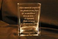 Vase personnalise par la gravure sur verre pour une declaration d amour unique et inoubliable